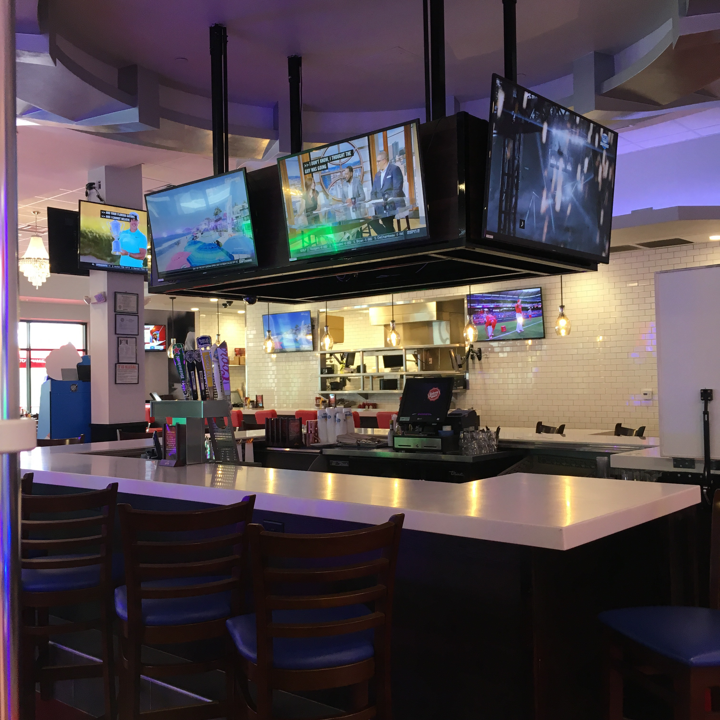 Restaurant bars retail store conference room school